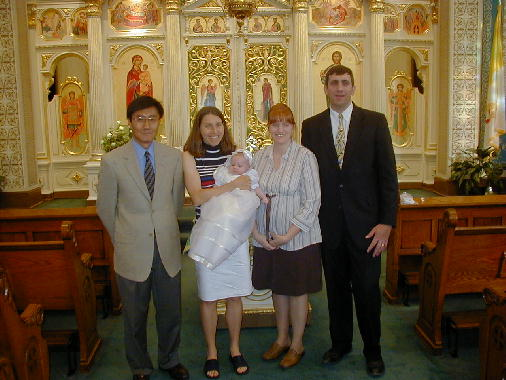 Parents and godparents.